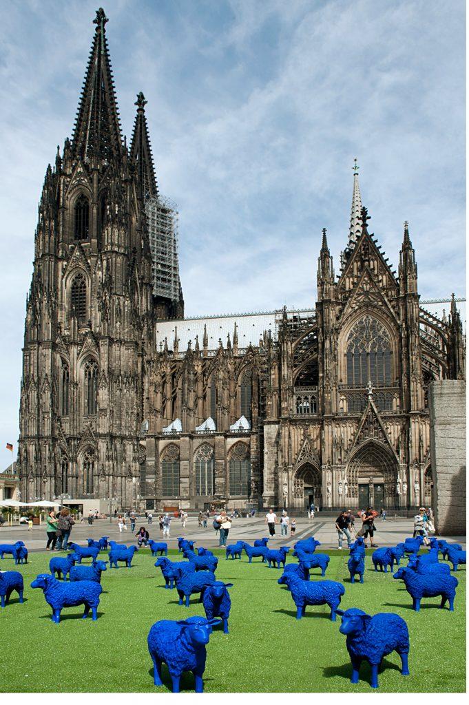 Blaue Schafe in Köln